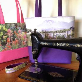 Putting my vintage Singer to work! She tackles the thick canvas straps like it's paper.