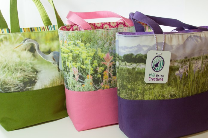 handcrafted book tote bag series