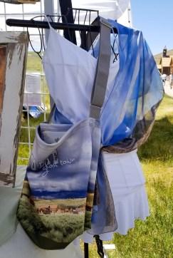 Bodie handbag white outfit mono lake scarf