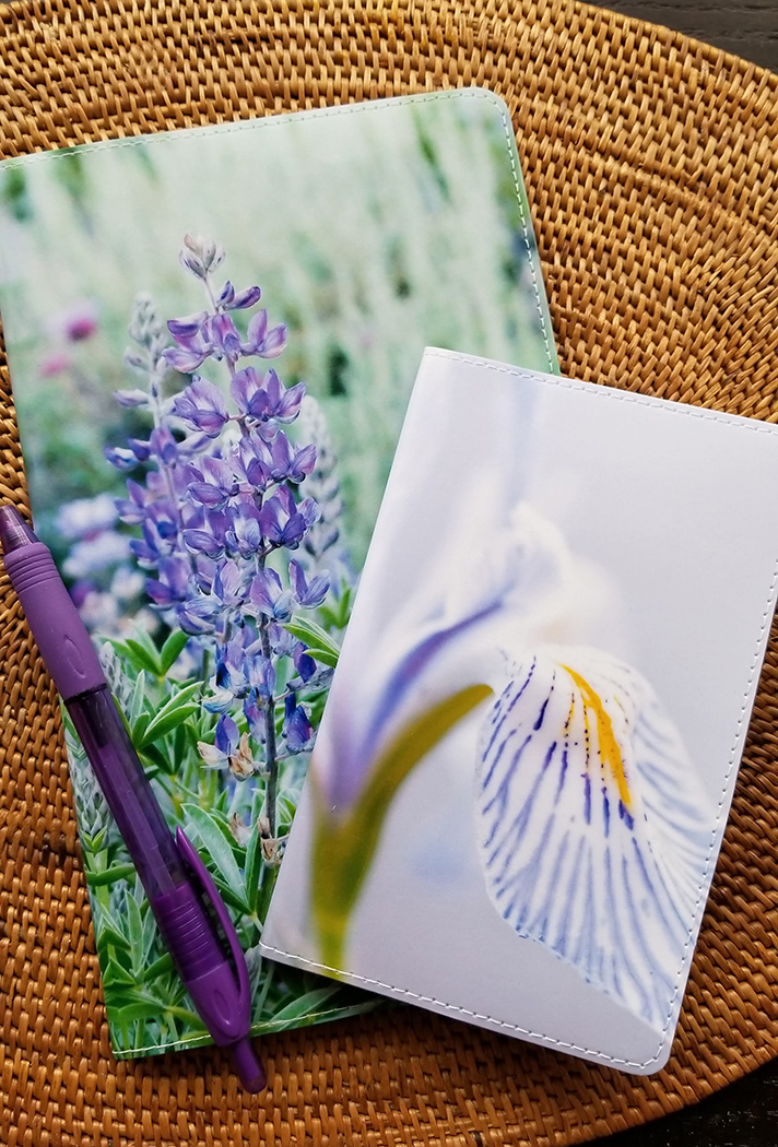 purple lupine wild iris wildflower notebook covers refillable
