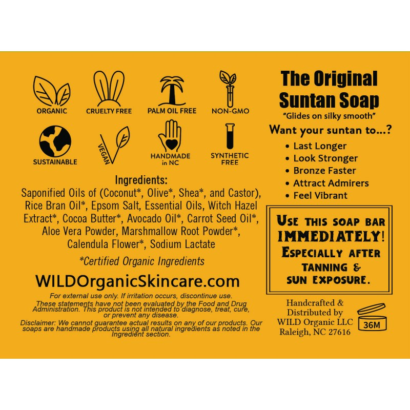 Ingredient Label The Original Suntan Soap
