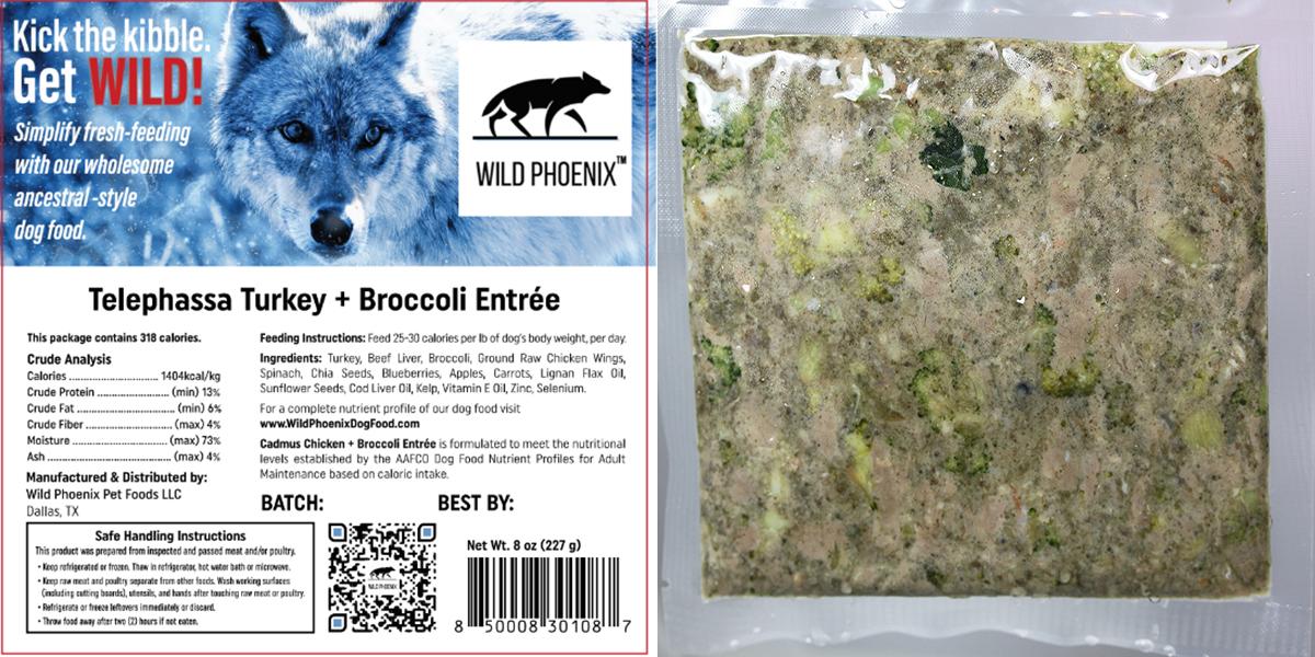 Telephassa Turkey + Broccoli Entrée (8 oz) – Individual Packet