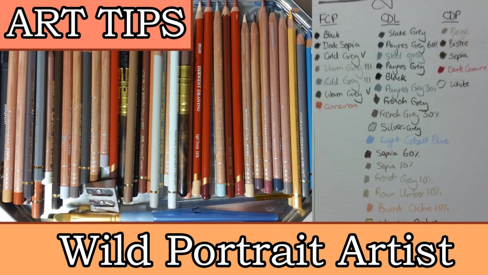 art tips video #1 how to keep track of which pencils you've used between drawings