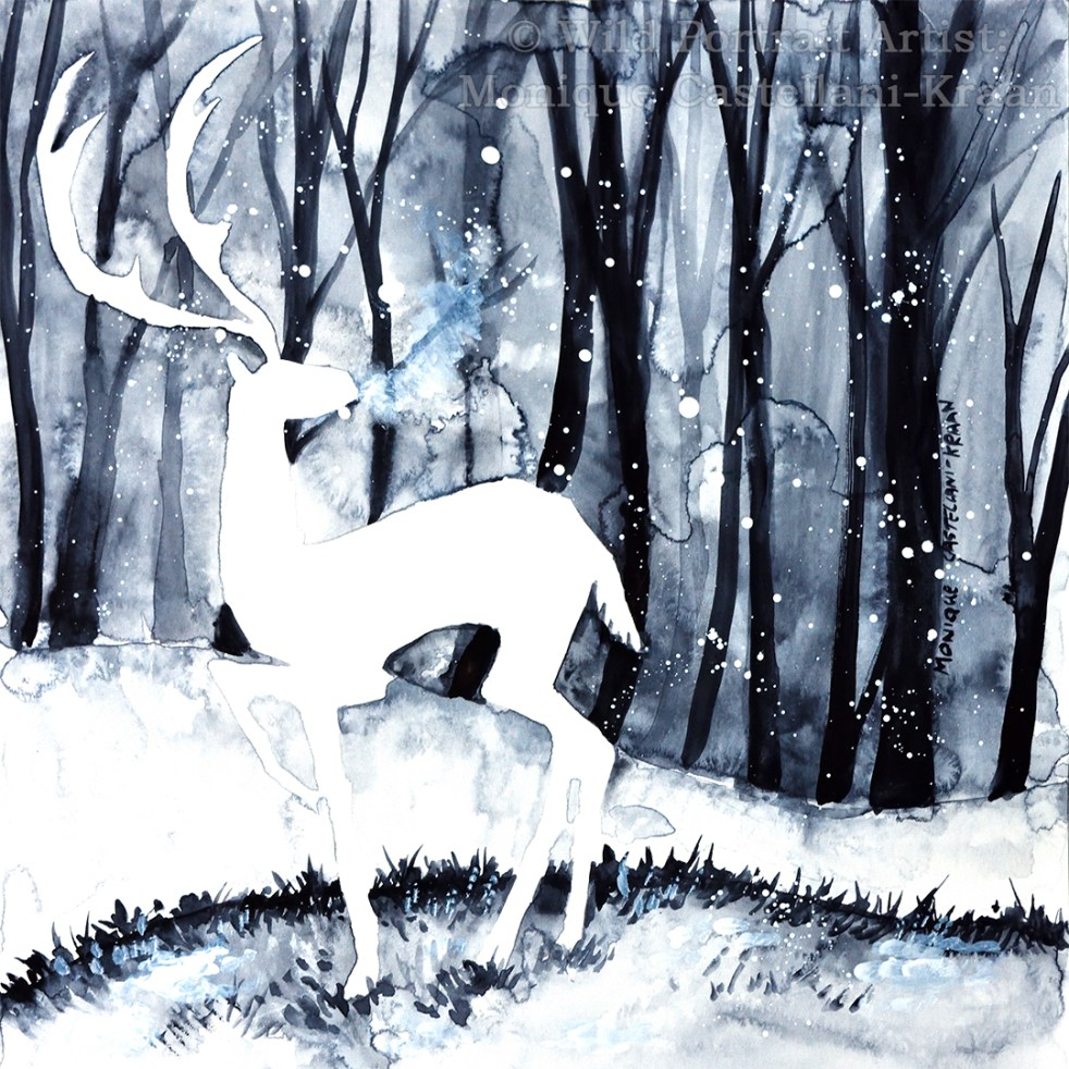 """First Snow"" Watercolour sketch"