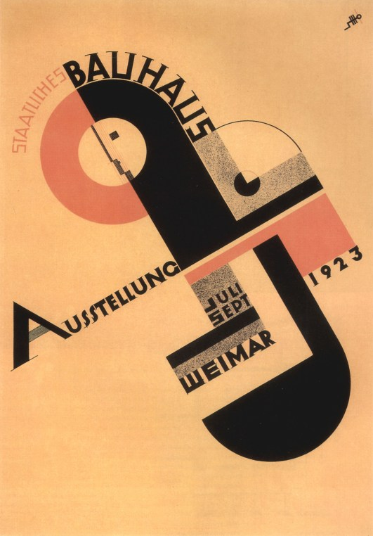Poster for the Bauhaus Exhibition in 1923 created by artist Wassily Kandinski.