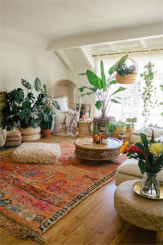 rugs and textile chairs, sitting room