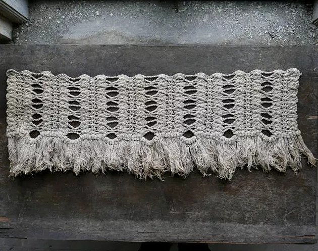 Vintage macrame from the Victorian age