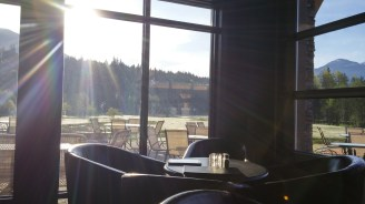 The stunning view from my breakfast spot in the hotel