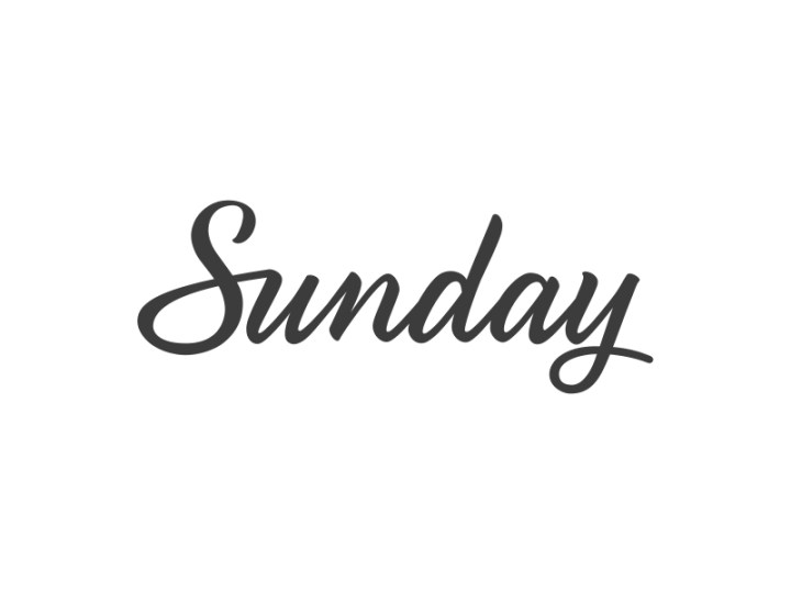 What I love about Sunday