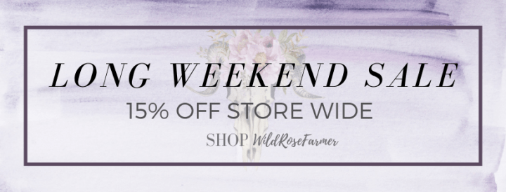 Save 15% Off Your Purchase @ SHOP WildRoseFarmer