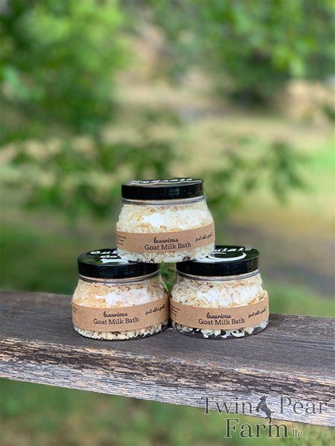 Twin Pear Farm Goat Milk Bath | Featured on What I Made Wednesday | Blog series on WildRoseFarmer.com