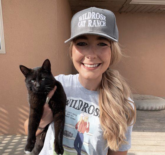 Wildrose Cat Ranch Hat Grey Snapback