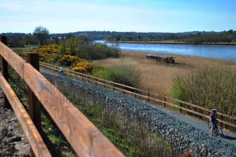 The Suir Valley Light Railway, beside the Waterford Greenway