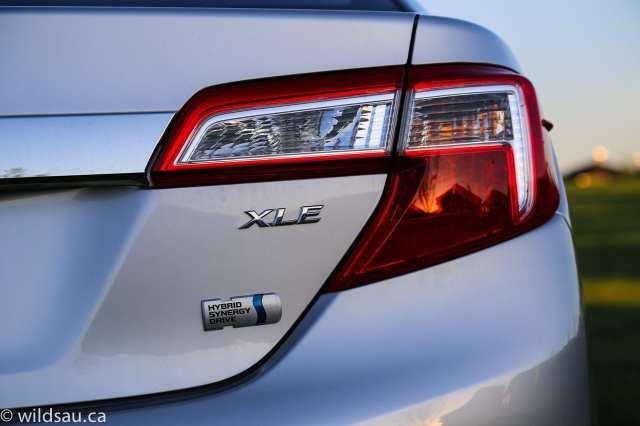 XLE hybrid badging