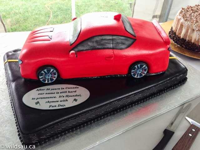Genesis Coupe cake