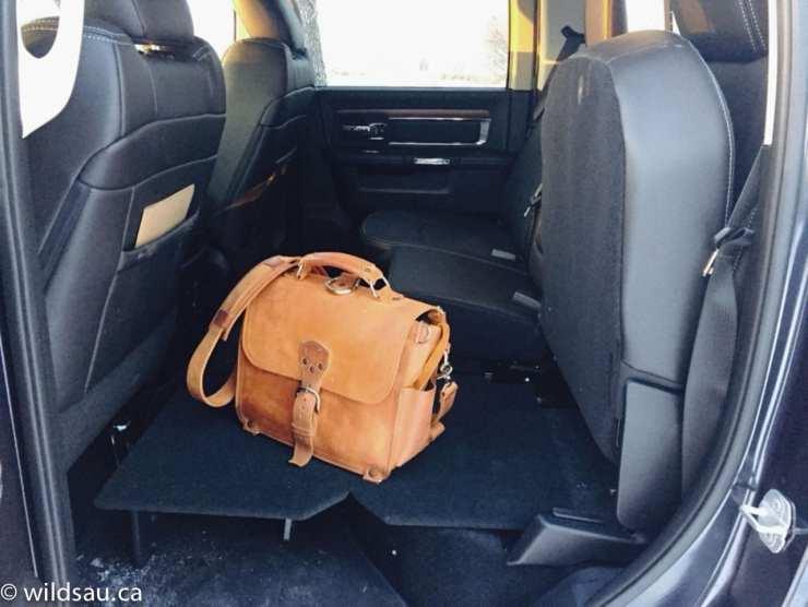 rear seat storage shelf
