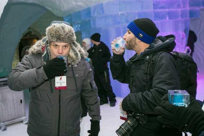me having an icy shot