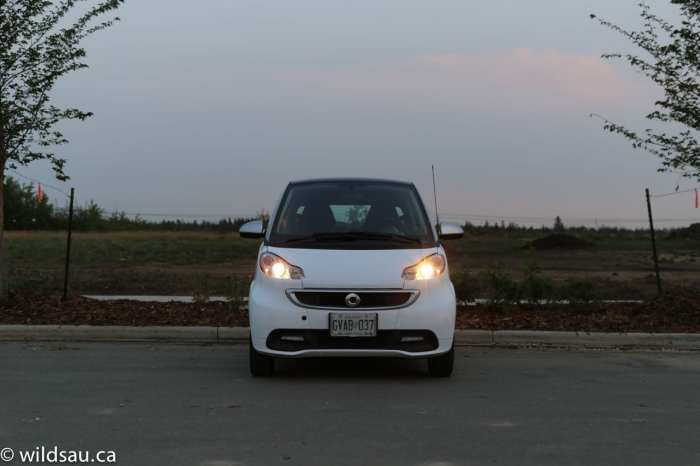 front headlights on