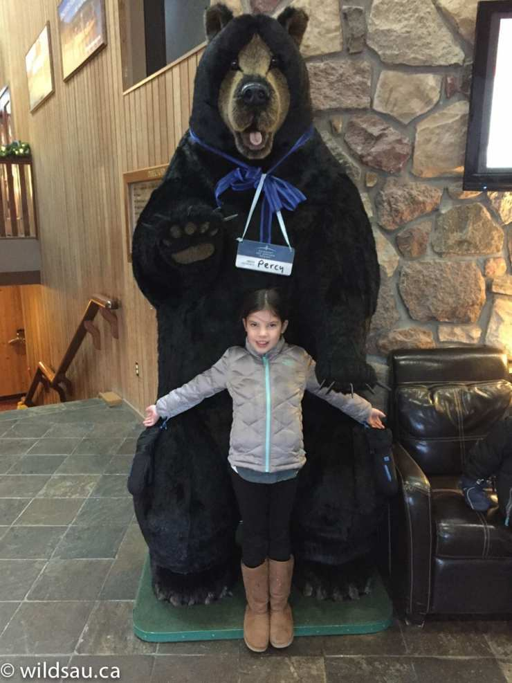 Amalie and Percy the Bear_