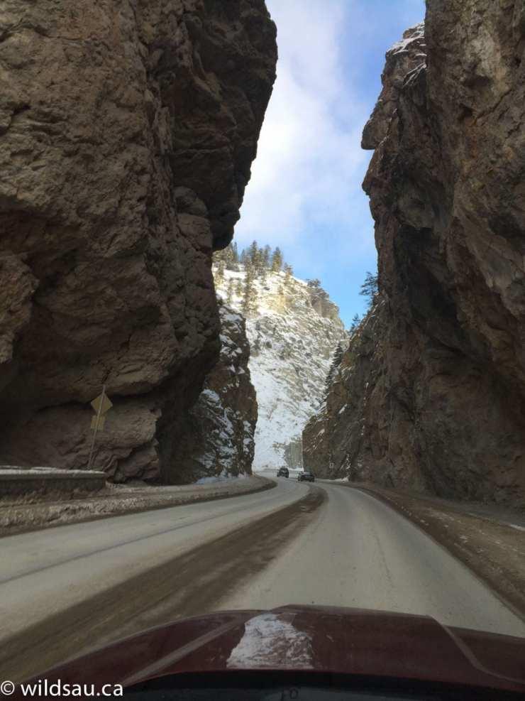 Radium - driving through the mountain 2