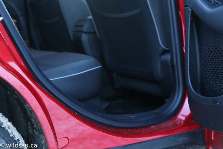 tight rear door opening