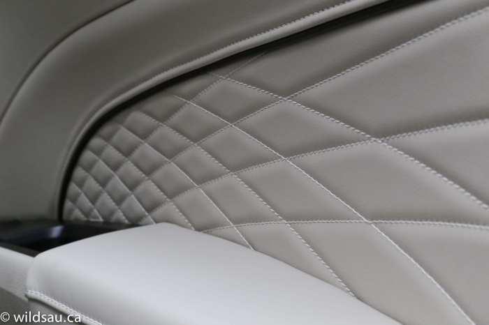 Platinum quilted door panel