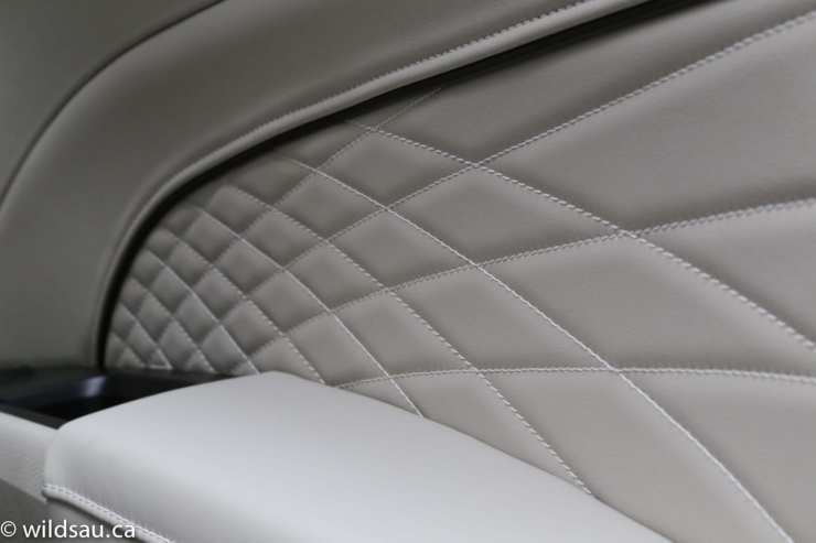 Platinum quilted door panel