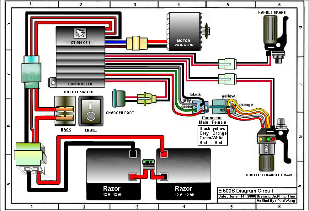 razor e100 electric scooter wiring diagram nissan patrol radio manuals
