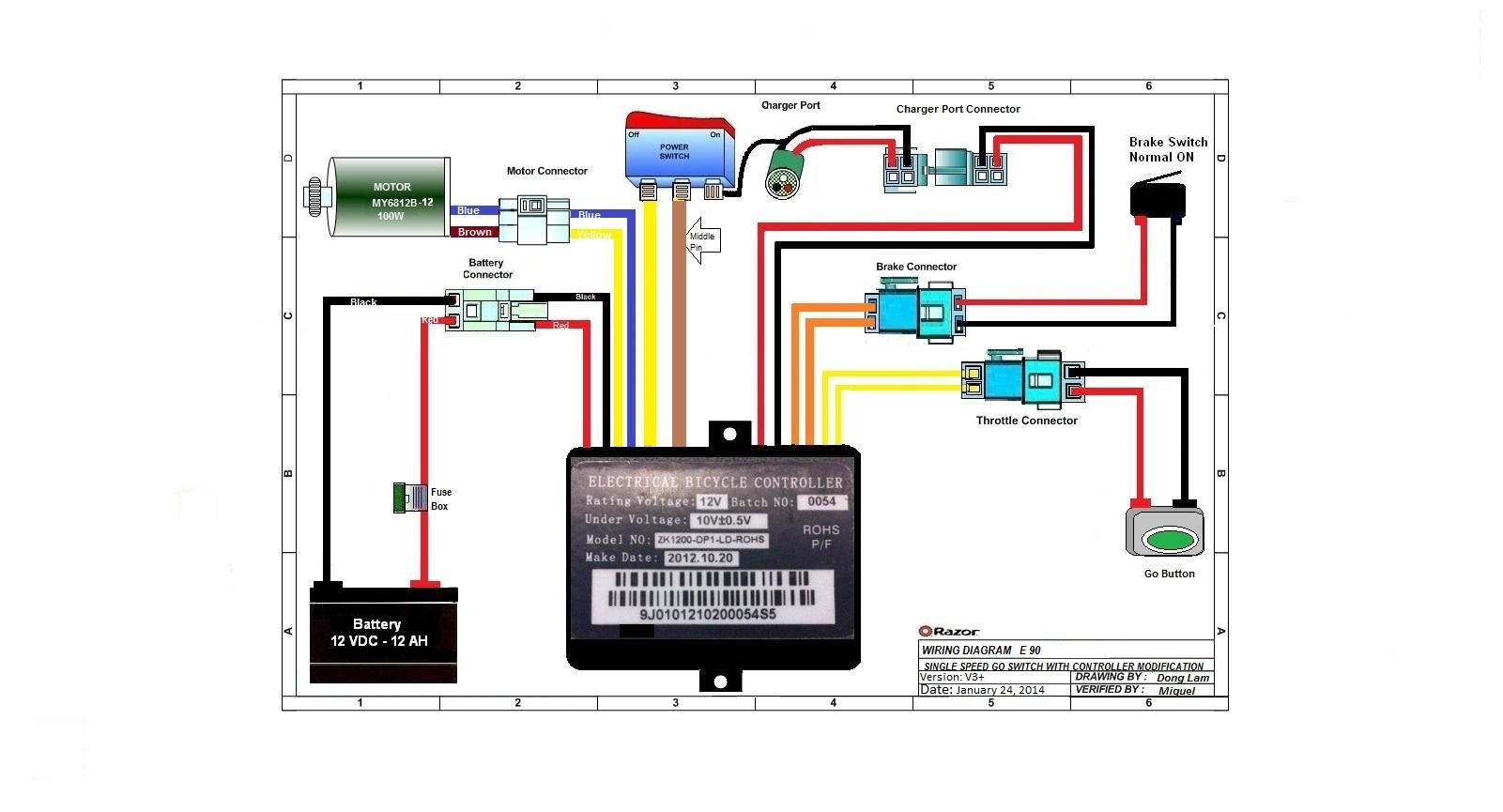 e scooter wiring diagram satellite tv installation razor electric dirt bike free