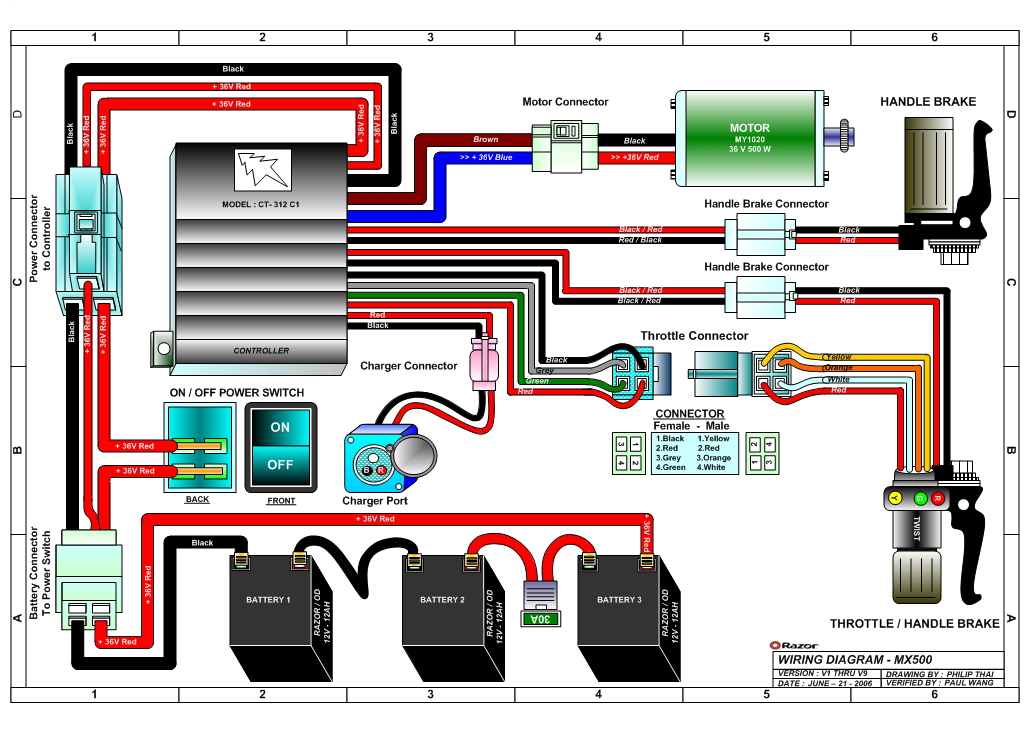Wiring Diagram Electric Bike ControllerWiring Diagram