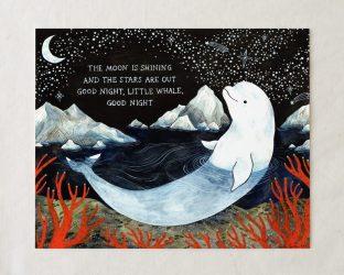 whale beluga baby nursery print prints decor wall items cart favorite