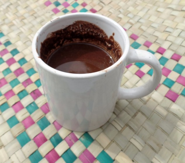 hot chocolate made from cacao