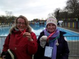 Lottie & Iona at Tooting Bec Lido