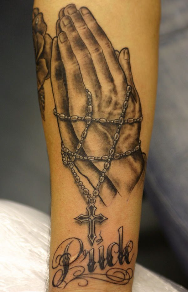 Rosary Tattoos With Names : rosary, tattoos, names, Brilliant, Rosary, Tattoo, Ideas, Their, Meanings