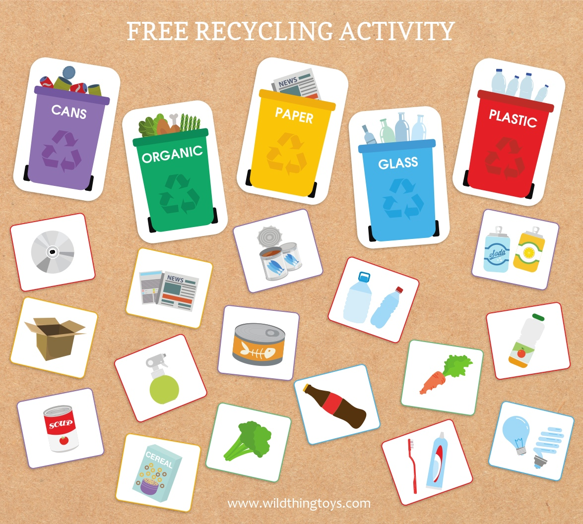 A Fun Printable Activity And Recycling Game To Help Your Kids Get Familiar With Recycling Great