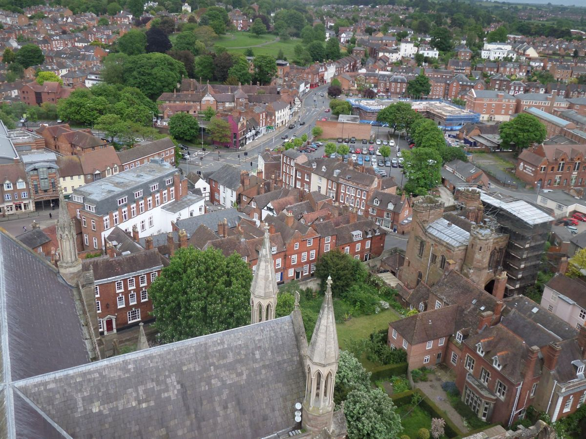 Worcester, from the Cathedral