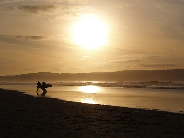 Beautiful Cornish Sunsets Over Sea