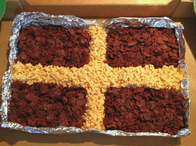 Cornish Flag Crispy Cake – Recipe