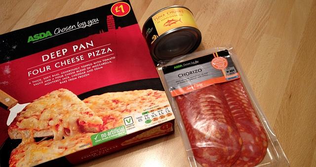 Easy, Cheap + Delicious – Chorizo & Tuna Pizza