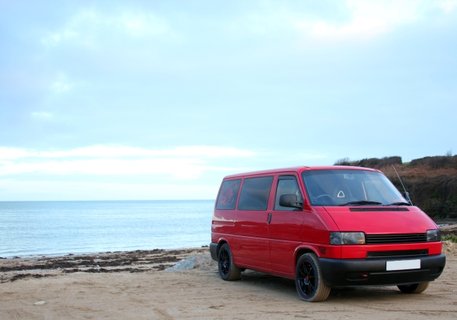 Red VW T4