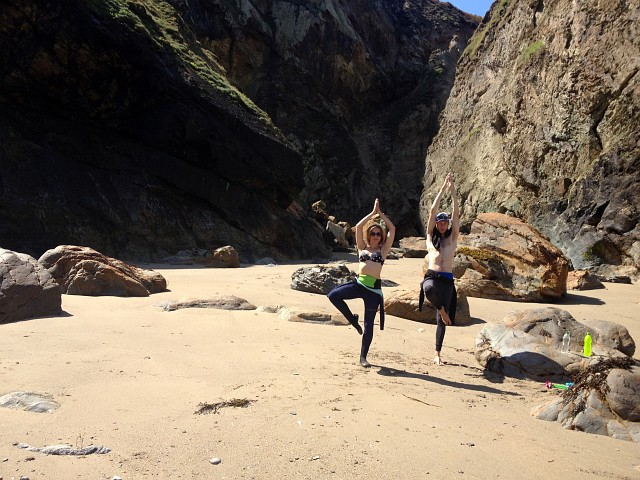 Cornwall Secret Beach Yoga