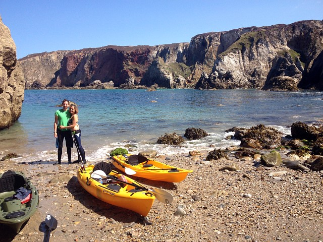 Kayak Fatyak Kaafu Beach Cornwall Sea