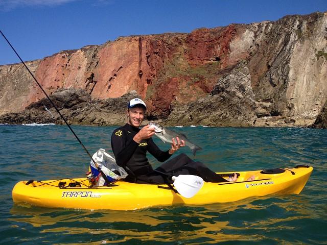Kayak Fishing Tarpon 100 Bass Cornwall