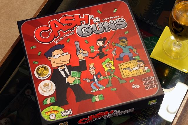 Cash and Guns Board Game Box