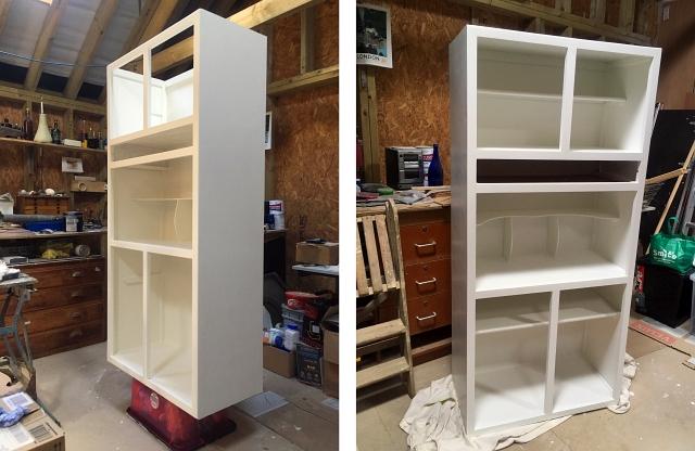 White Painted Kitchen Larder Unit