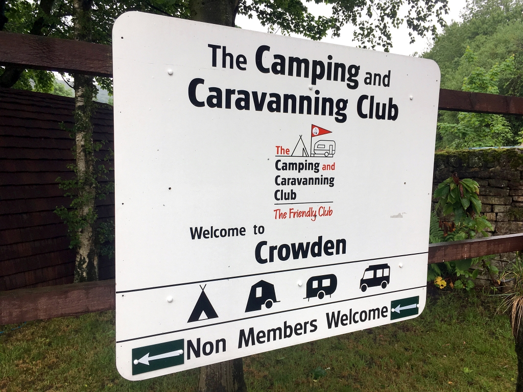 Crowden Camping and Caravanning Club Sign