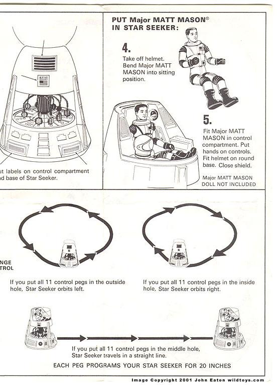 Wildtoy's Major Matt Mason Instructions Page