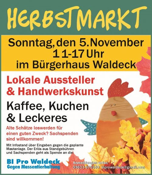 1. Herbstmarkt in Waldeck