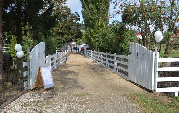 Eingang Ranch und Farm
