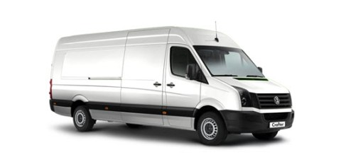 Mercedes Sprinter (VW Crafter) comes in under the 3.5T weight restriction and offers large interior space.